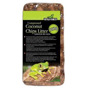 DÉCO VÉGÉTALE - RACINE Substrat pour Reptiles Compressed Coconut Chips Li