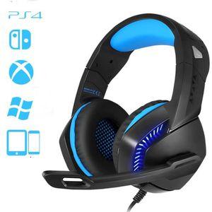 CASQUE AVEC MICROPHONE Usiful Bon casque pour gamer-Parfait pour PS4-nouv