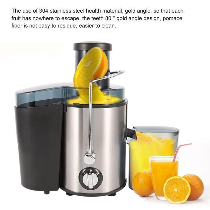 Centrifugeuse Extracteur de Jus Fruits et Légumes, 400W Centrifugeuse compacte large en Acier Inox Design