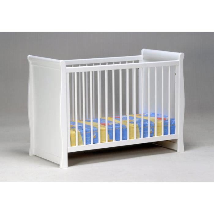TEDDY - lit bébé laqué blanc
