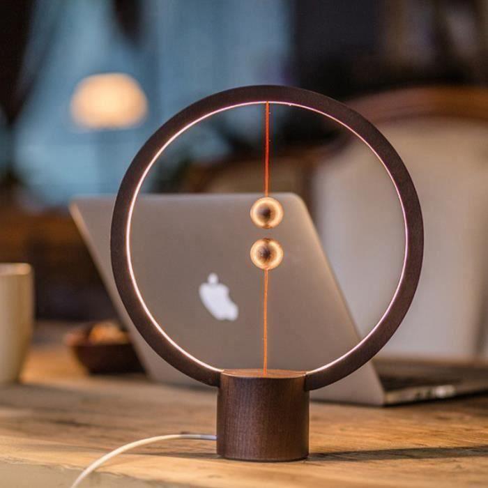 KING LEEGOAL Petite lampe de table Heng Balance lamp smart balance lecture magnétique LED noir 1 set