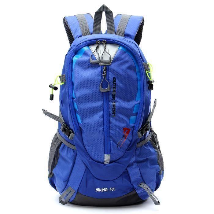40L sac à dos extérieur sport voyage unisexe imperméable bleu Me40099