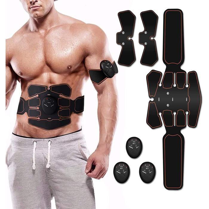 ABS Trainer Stimulateur de musculation, équipement d'exercice abdominal EMS Muscle Toner électrique ABS Ceinture abdominale Simulate