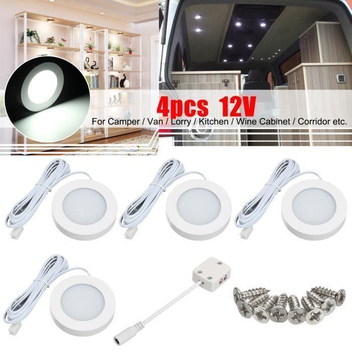 4Pcs 12V Intérieur LED Spot Light Projecteur Pour Camper Van Caravane Camping-Car VW T4 T5 @JBL