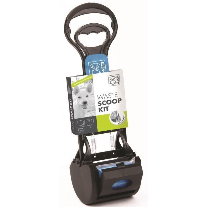 M-PETS Kit pelle à déjection Waste Scoop Kit - 38x12x10,5cm - Noir et bleu - Pour chien (Lot de 2)