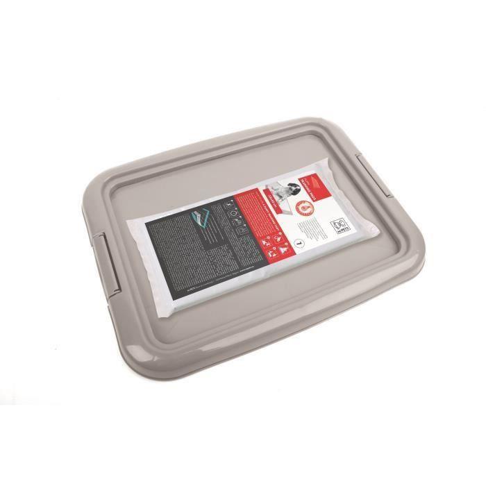 M-PETS - Kit propreté - Gris - 33 x 45 cm - Pour chien (Lot de 2)
