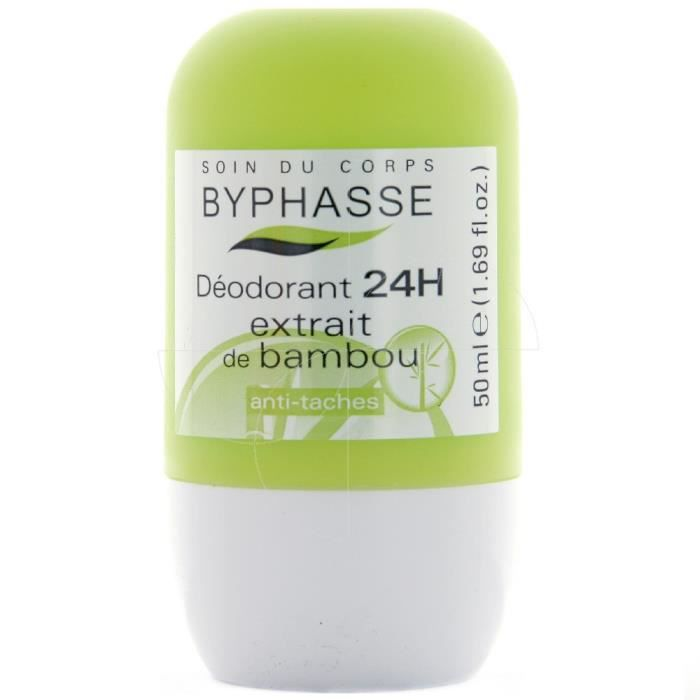 Byphasse - Déodorant 24h extrait de bambou roll-on - 50ml