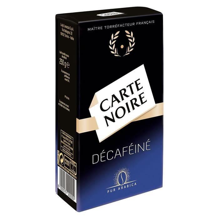 LOT DE 3 - CARTE NOIRE : Café moulu décaféiné 250 g
