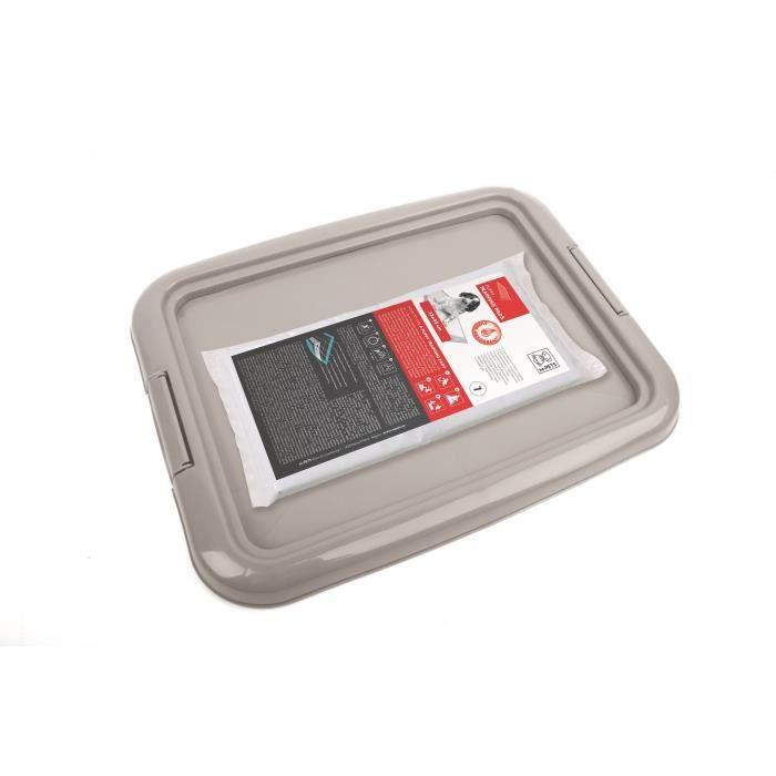 M-PETS - Kit propreté - Gris - 33 x 45 cm - Pour chien