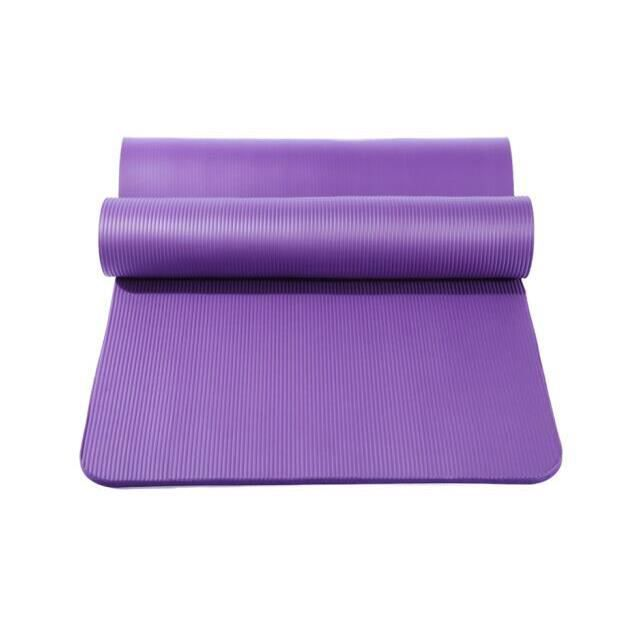 Tapis de Pilates Yoga Antidrapant avec Sangle Transport 183*61*1 cm Tapis de Fitness Gym - Violet