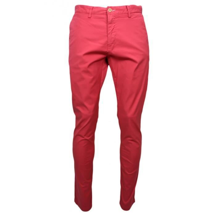 Chino Gant rouge pour homme longueur 34 - Couleur: Rouge - Longueur: 34 - Taille: W36