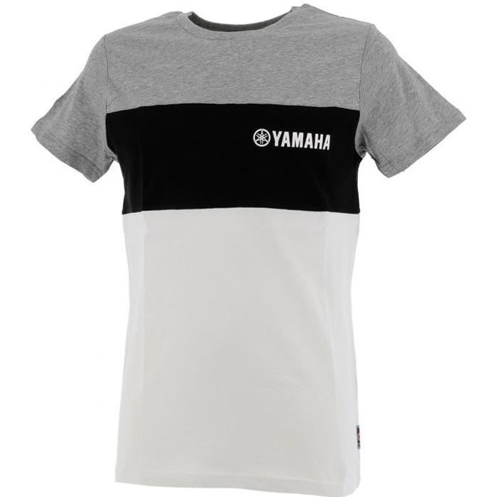 Tee shirt manches courtes Yam ant/nr/blanc mc tee - Yamaha