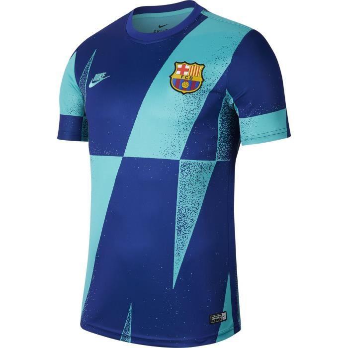 Maillot Nike Barcelone Pre-match 2019-20 bleu vert homme