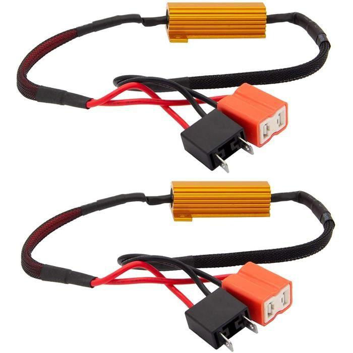 Résistance à LED résistance de charge CANBUS Decoder H7 50W 6OHM Erreur anti-scintille Gratuit pour Blink Hyper Flash 2pcs