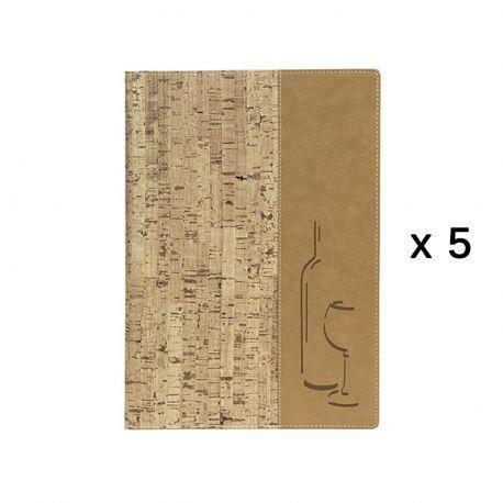 Lot de 5 Cartes des vins Liège format A4 3,5 PVC