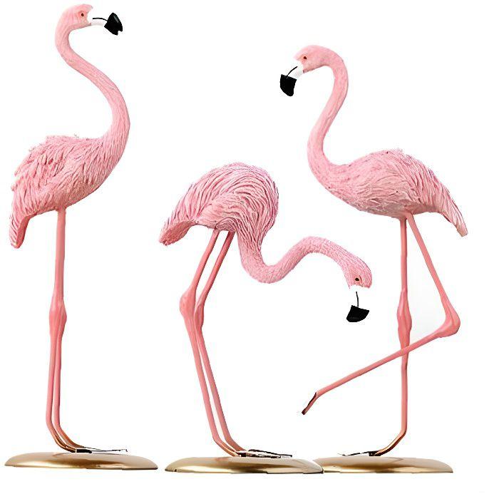 Pink Flamingo Sculpture Table Decor Flamingo Art debout Home Décoration Ornement Flamingo Décor Figure Decoration Décoration GI