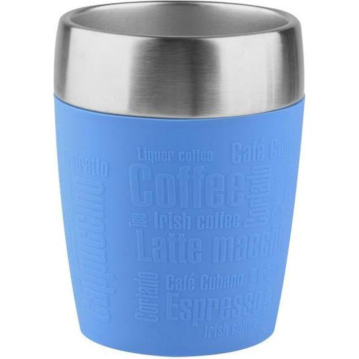 TEFAL - Mug Isotherme Travel Cup - 0.2 L - Inox & Bleu - K3083314