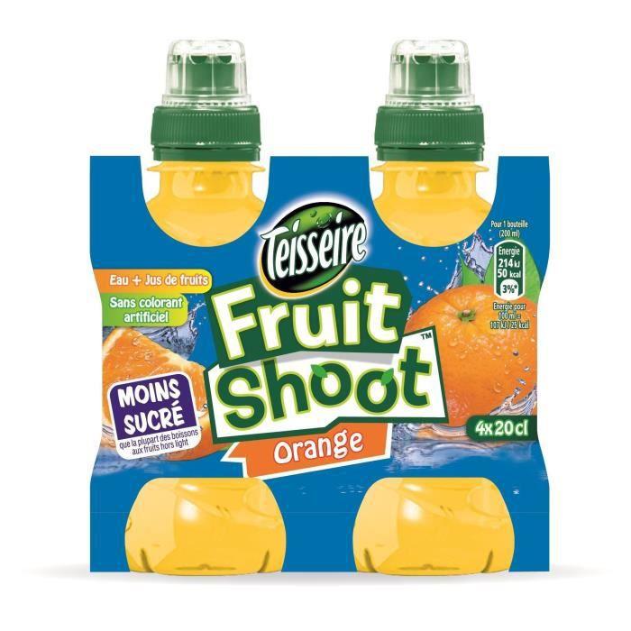 FRUIT SHOOT Lot de 4 bouteilles de Jus d'Orange - 20 cl