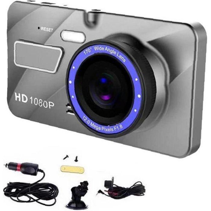 Dual lentille Dash Cam 4 pouces Avant Arrière HD Caméra de voiture avec carte SD 32G Vision Night Vision