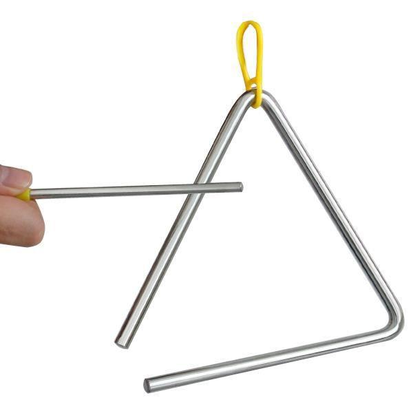 TRIXES Triangle musical acier enfants école avec tige