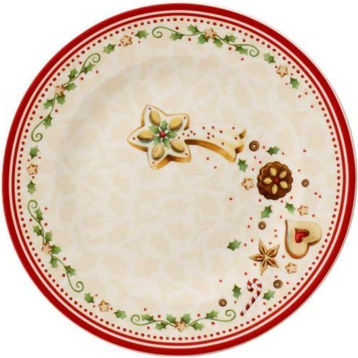 Villeroy & Boch 14-8612-2642 Assiette Plate Porcelaine Rouge 22,6 x 22,6 x 7,6 cm 1 Assiette