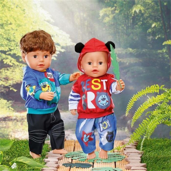 BABY Born Ensemble de loisir garçon pour poupée de 43 cm