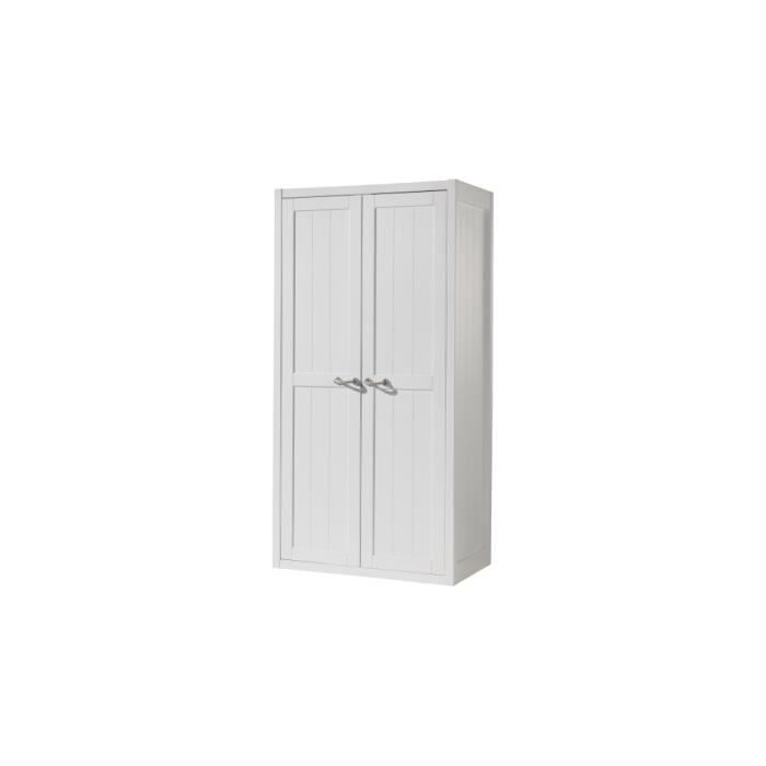 armoire enfant laqu blanc 2 portes lewis achat vente. Black Bedroom Furniture Sets. Home Design Ideas