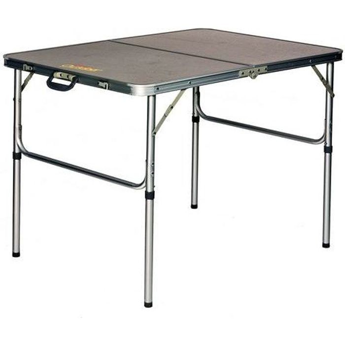 Table de camping alu mdf pliante de 120 x 60 cm achat - Table de bridge pliante ...