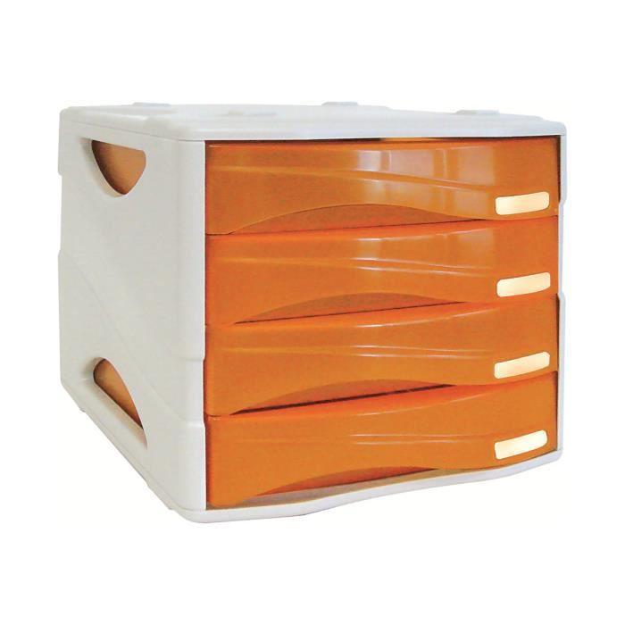 Arda Smile Bloc De Classement A Tiroirs 4 Tiroirs A4 240 X 320 Mm Orange Transparent Pack De 2 Achat Vente Armoire De Bureau Arda Smile Bloc De Cdiscount