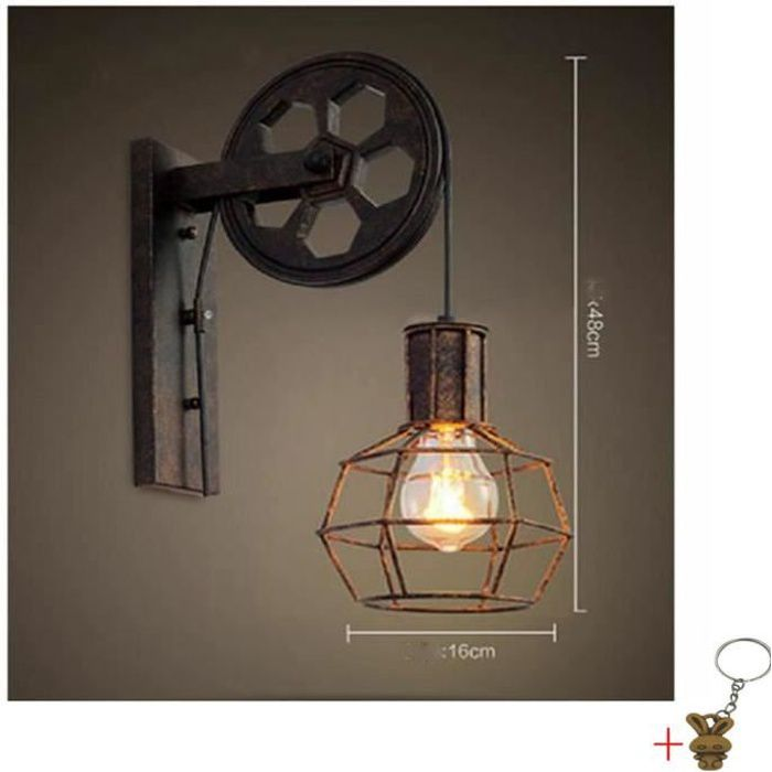 vintage metal murale applique luminaire industriel plafonnier applique luminaire cadeau porte. Black Bedroom Furniture Sets. Home Design Ideas