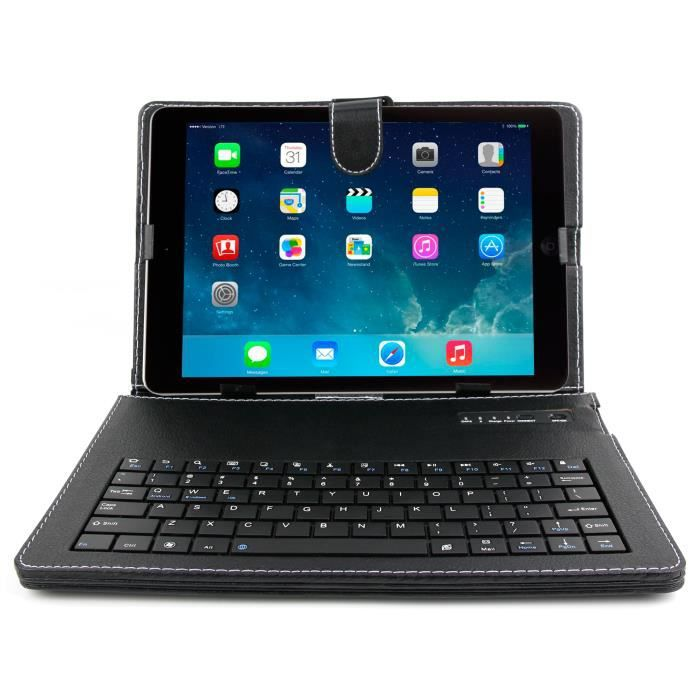 informatique tablettes tactiles ebooks etui clavier bluetooth qwerty pour apple ipad f  dur