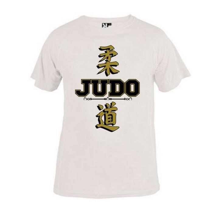 vast selection fashion style no sale tax T-SHIRT JUDO ENFANT BLANC ECRITURE FRANCE JAPON