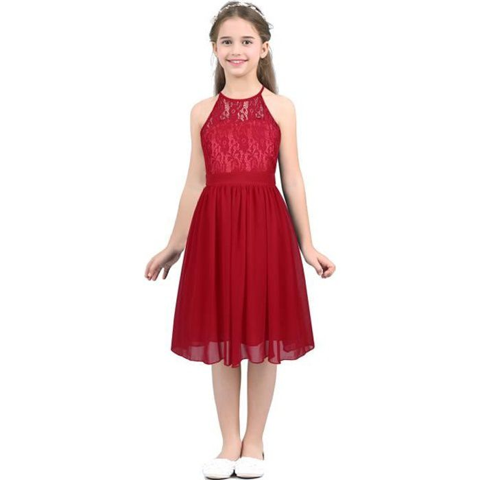 bad5aea90f0e5 Robe rouge mariage - Achat   Vente pas cher