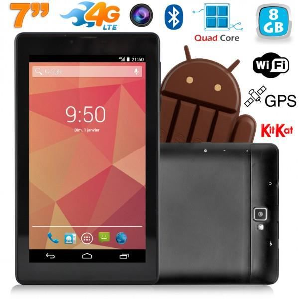 tablette 7 pouces 4g android kitkat gps bluetooth quad. Black Bedroom Furniture Sets. Home Design Ideas