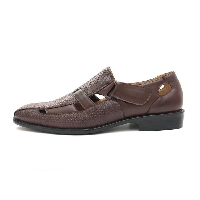 Textured Slip On Dress Sandals Available In Big & Tall Sizes XNVOC Taille-48