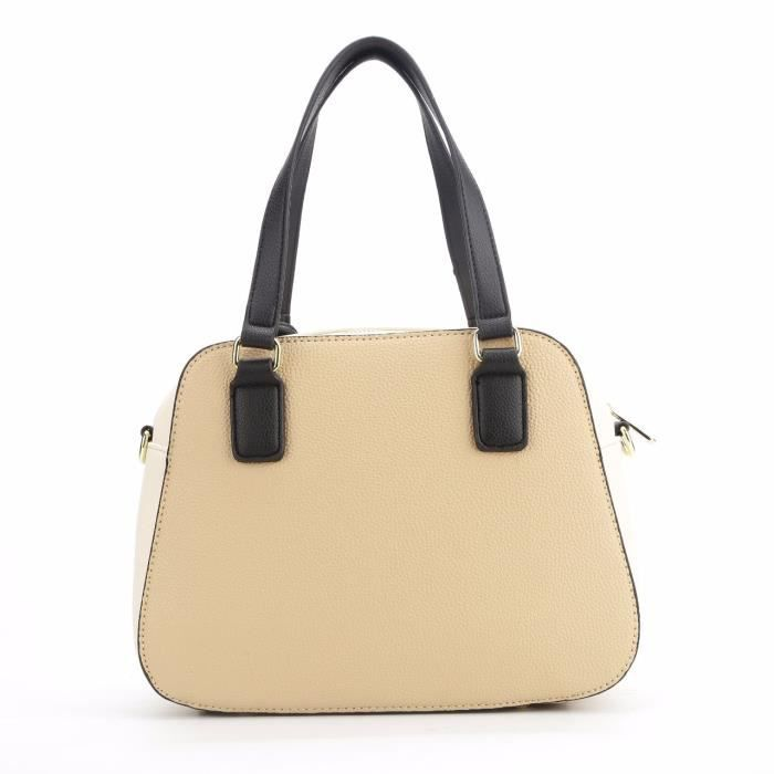 Sac à main de la femme, Material- synthetique cuir, Couleur- Chocalate - beige K59UJ