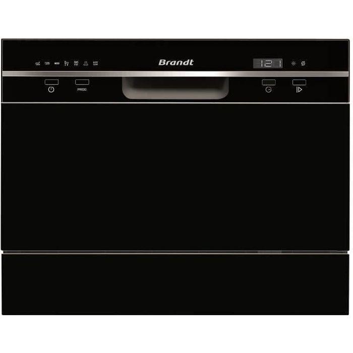 Lave-vaisselle pose libre BRANDT DFC6519B - 6 couverts - Largeur 55 cm - Classe A+ - 49dB - Noir