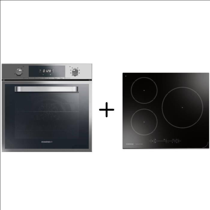 ROSIERES RFS6871IN - Four électrique multifonction - Chaleur pulsée + ROSIERES RPI2S0 - Plaque de cuisson induction