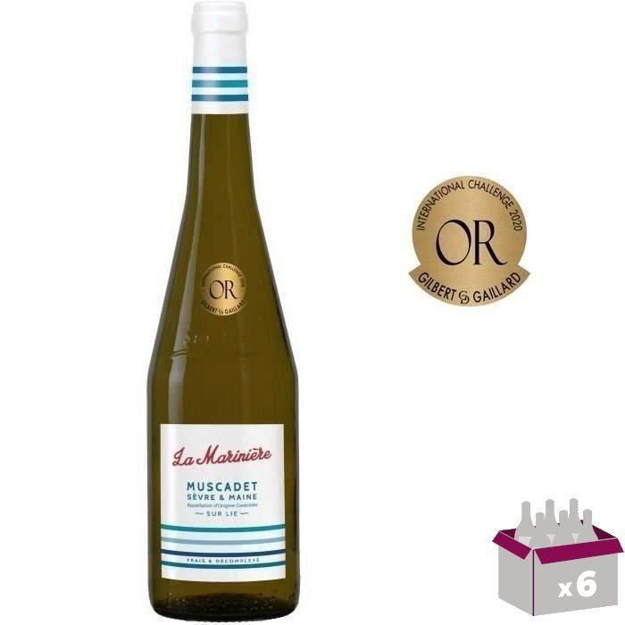 4 Achetées + 2 Offertes - La Marinière 2019 Muscadet Sèvre et Maine - Vin blanc de la Val de Loire