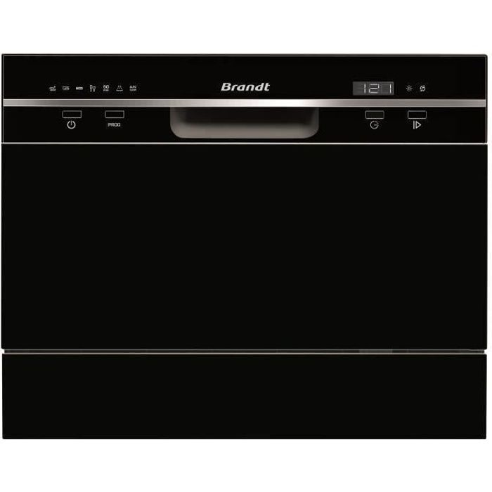 LAVE-VAISSELLE BRANDT DFC6519B - Lave-vaisselle posable - 6 couve