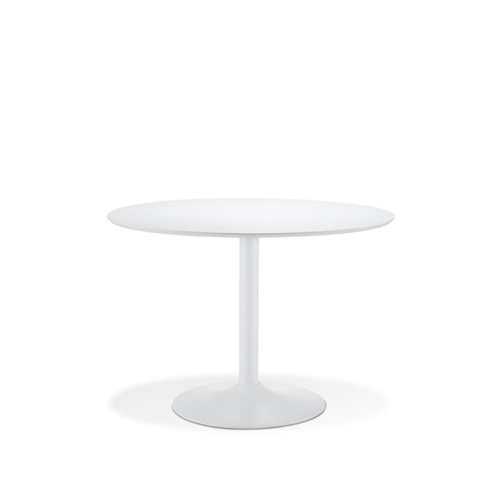 youpi table ronde plateau mdf blanc achat vente table a manger seule youpi table blanche. Black Bedroom Furniture Sets. Home Design Ideas
