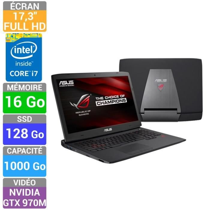 asus rog pc portable gamer g751jt t7119h prix pas cher. Black Bedroom Furniture Sets. Home Design Ideas