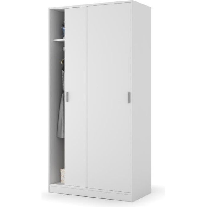 good elena armoire de chambre style blanc with armoire petite profondeur. Black Bedroom Furniture Sets. Home Design Ideas