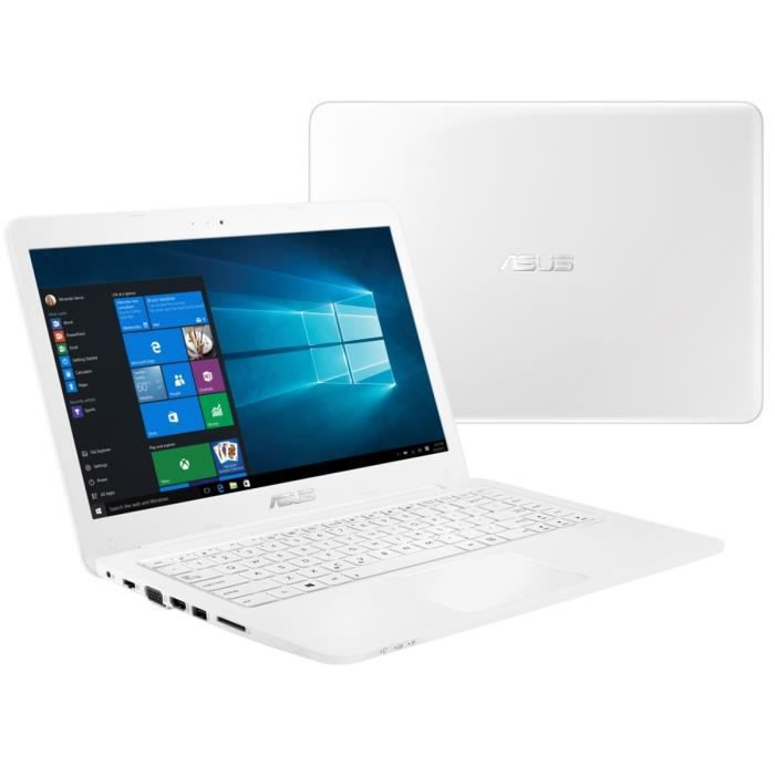 asus pc portable e402sa wx319t blanc 14 8go de ram. Black Bedroom Furniture Sets. Home Design Ideas