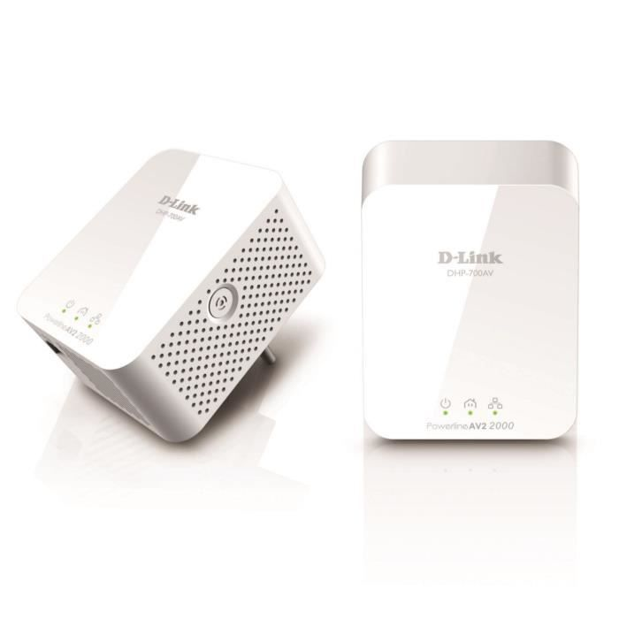D-Link - Kit de 2 adaptateurs CPL AV2 2000 HD Gigabits DHP-701AV