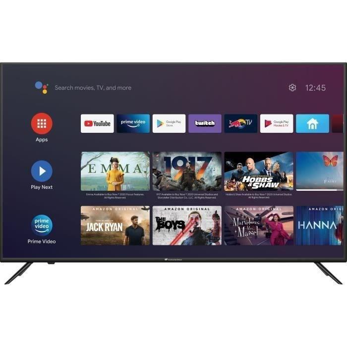 CONTINENTAL EDISON Android TV QLED 43'' (108 cm) 4K Ultra HD - Wifi - Bluetooth Netflix