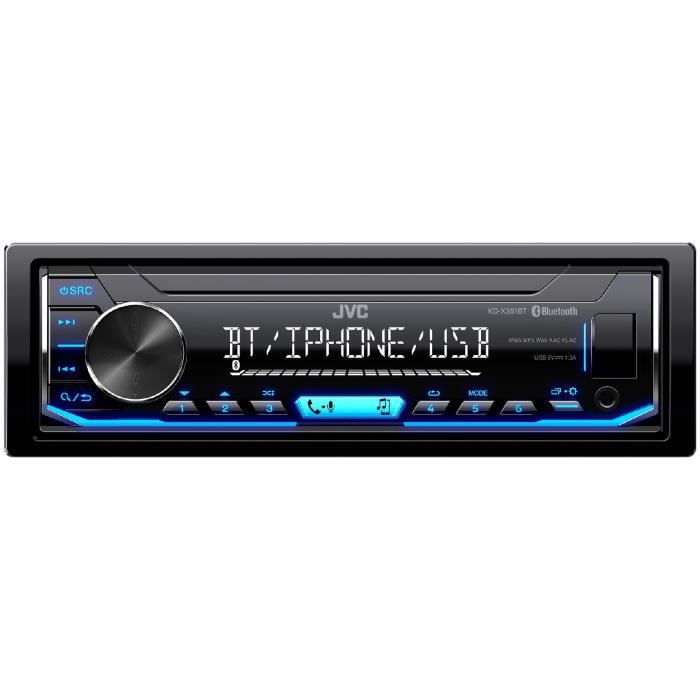 JVC Autoradio KD-X351BT - CD - Iphone - Android - Illumination bleue