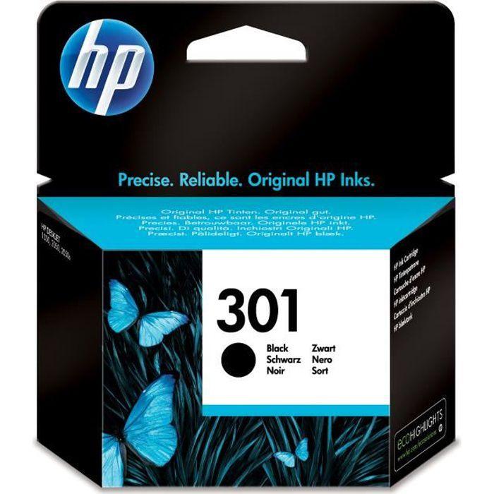 HP 301 cartouche d'encre noire authentique pour HP Envy 4505 et HP DeskJet 1050/1512/2548/3057A (CH561EE)