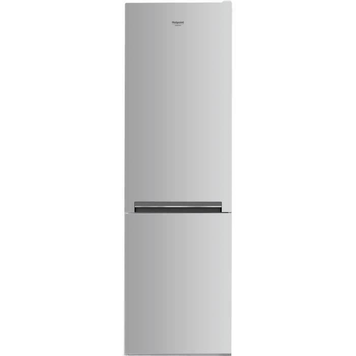 HOTPOINT H8A1ES - Réfrigérateur congélateur bas - 338L (227+111) - Froid brassé - L 60cm x H 189cm - Silver