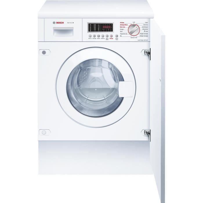 Lave-linge séchant tout intégrable BOSCH WKD28541FF - Lavage 7 kg / séchage 3,5 kg - Classe B - 1400 tours/min - Blanc